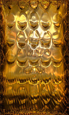 Goldpanel 02 Art Print by Li   van Saathoff