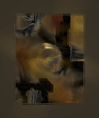 Digital Art - Golds-n-browns by Ines Garay-Colomba