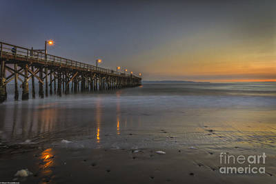 Goleta At Sunset Art Print