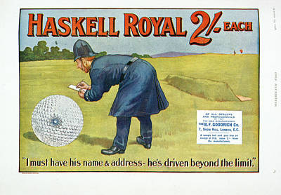 Policemen Photograph - Golf Advertisement by British Library