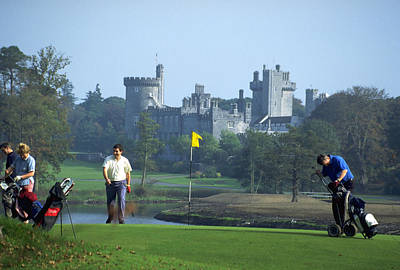 Golf At Dromoland Castle Art Print by Carl Purcell