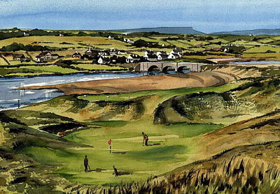 Painting - Clare  Golf At Lahinch Gc by Val Byrne