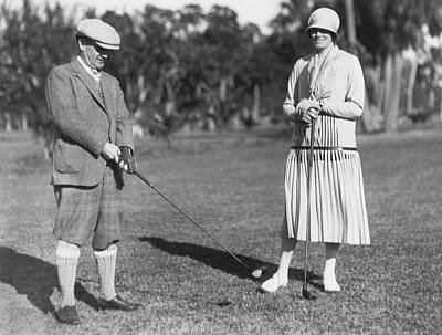 Philanthropist Photograph - Golf At Palm Beach by Underwood Archives