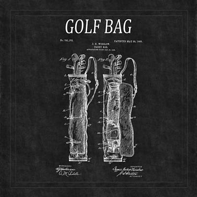 Golf Bag Patent 2 Art Print by Andrew Fare
