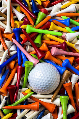 Golf Photograph - Golf Ball And Tees by Garry Gay