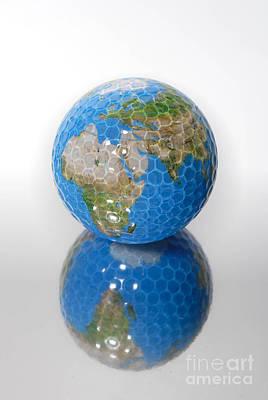Golf Ball Globe Print by Amy Cicconi