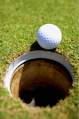 Golf Ball Go To Hold Art Print by Lanjee Chee
