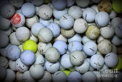 Golf Balls 4 Art Print by Paul Ward