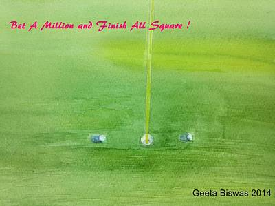 Painting - Golf Betting by Geeta Biswas