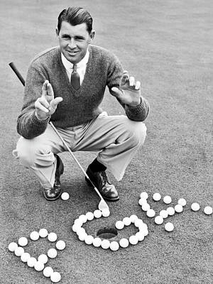 Photograph - Golf Champion Picard by Underwood Archives