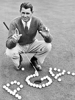 Golf Champion Picard Art Print