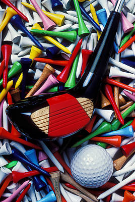 Golf Club And Tees Art Print