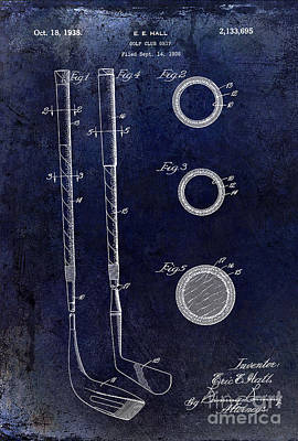 1938 Golf Club Grip Patent Drawing Art Print