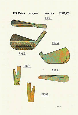 Golf Club Patent-1989 Art Print