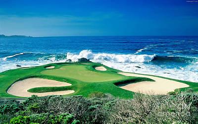 Golf Mixed Media - Golf Course Beauty by Marvin Blaine