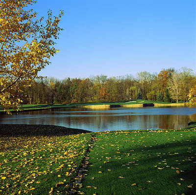 Fallen Leaves Photograph - Golf Course, Laurel Valley Golf Club by Panoramic Images