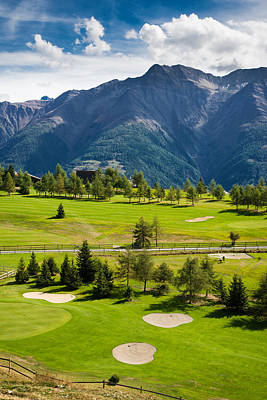 Photograph - Golf Course Riederalp Valais Swiss Alps Switzerland by Matthias Hauser