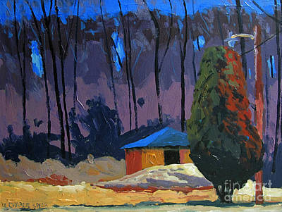 Golf Course Shed Series No.2 Art Print by Charlie Spear