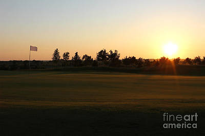 Golf Course Sunset Print by Kiril Stanchev