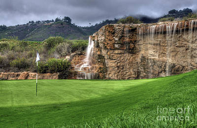 Photograph - Golf Course Waterfall by Eddie Yerkish