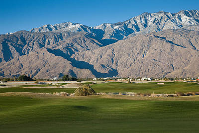 Palm Springs Photograph - Golf Course With Mountain Range, Desert by Panoramic Images