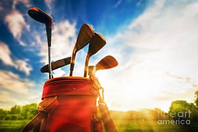 Golf Equipment  Art Print by Michal Bednarek