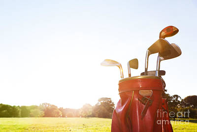 Hobby Photograph - Golf Equipment Professional Clubs On Golf Course by Michal Bednarek