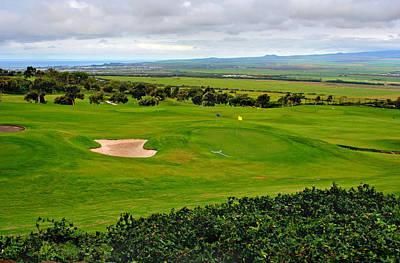 Photograph - Golf Fairway With Sandtrap by John Orsbun