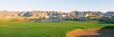 Golf Flag In A Golf Course, Phoenix Art Print by Panoramic Images