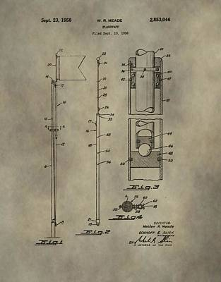 Golf Flag Patent  Art Print by Dan Sproul