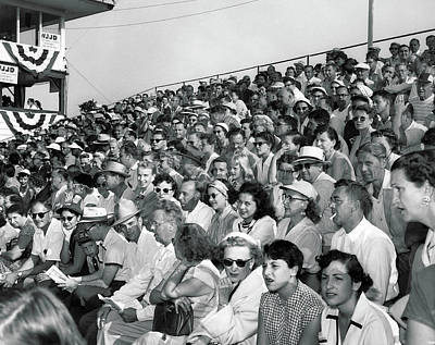 Photograph - Golf Grandstand Crowds by Underwood Archives