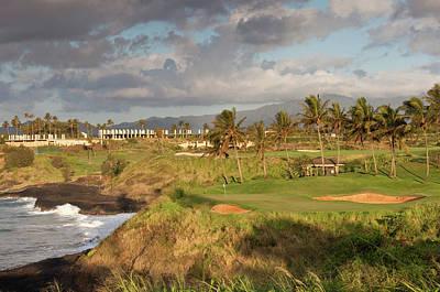 Photograph - Golf Green Along Ocean by Imaginegolf
