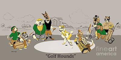 Golf Mixed Media - Golf Hounds by Constance Depler