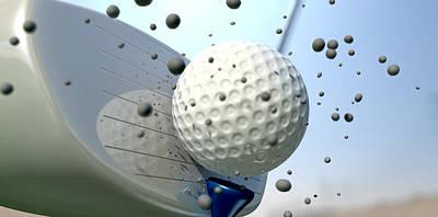 Impact Digital Art - Golf Impact by Allan Swart