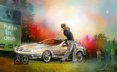 Sports Paintings - Golf in Gut Laerchehof Germany 03 by Miki De Goodaboom
