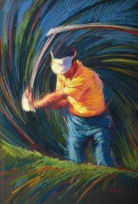 Professional Golf Painting - Golf Iv by Jim Grady