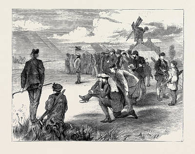 Golf Match Between The Royal Blackheath And London Scottish Print by English School