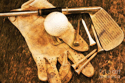 Photograph - Golf Memorabilia by Charline Xia