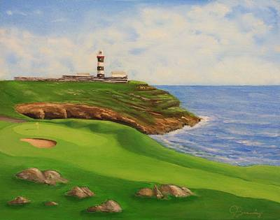 Golf Old Head Of Kinsale Art Print by Jacob Browning