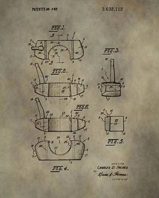Golf Putter Patent Art Print by Dan Sproul
