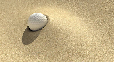 Warm Digital Art - Golf Sand Trap by Allan Swart