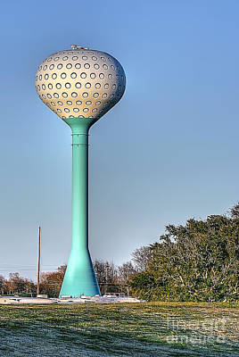 Photograph - Golf Tee Water Tower At Pleasure Island by D Wallace