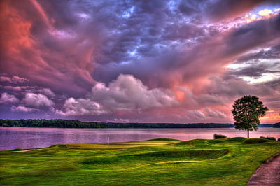 Sports Royalty-Free and Rights-Managed Images - Golf The Landing 2 Reynolds Plantation Lake Oconee Golf Art by Reid Callaway