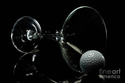 Golf Tini Golf Ball And Martini Glass Art Print