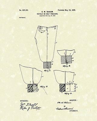 Golf Trousers 1899 Patent Art Art Print