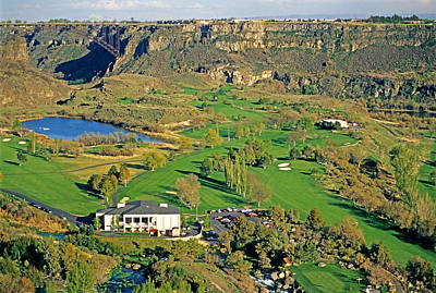 Thomas Kinkade Rights Managed Images - Golf Twin Falls Royalty-Free Image by Elijah Weber