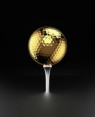 Photograph - Golfball And Alluminium Golf Tee by Atomic Imagery