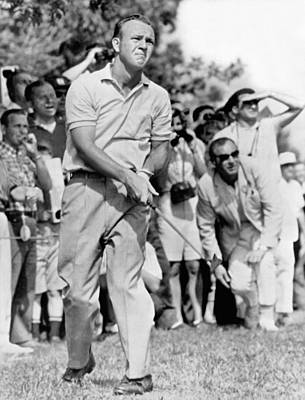 Swinging Photograph - Golfer Arnold Palmer by Underwood Archives