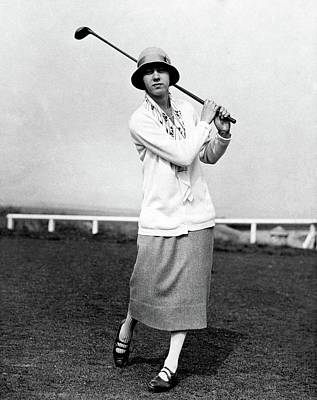 Full Skirt Photograph - Golfer Joyce Wethered by  Acme
