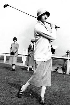 Cloche Hat Photograph - Golfer Joyce Wethered by Photo-Illustration Company